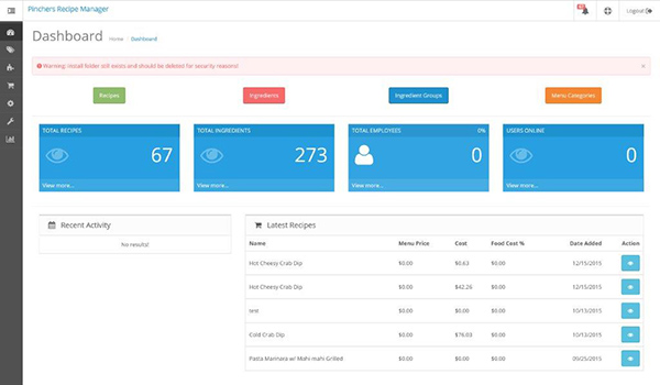 Custom CMS Backend for Pinchers